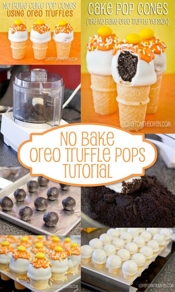 No Bake Oreo Truffle Pops Tutorial Check us out at www.hotdeals.com or on fb! Www.facebook.com/hotdealscom