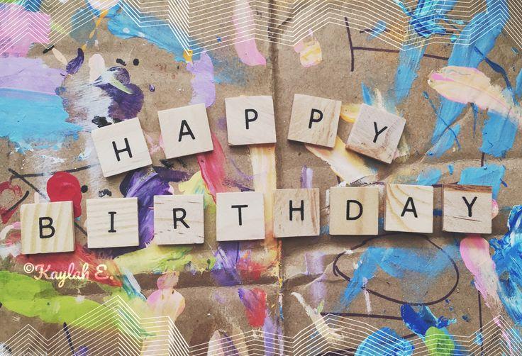 Happy Birthday Card Aesthetic Design by Kaylah Eaton