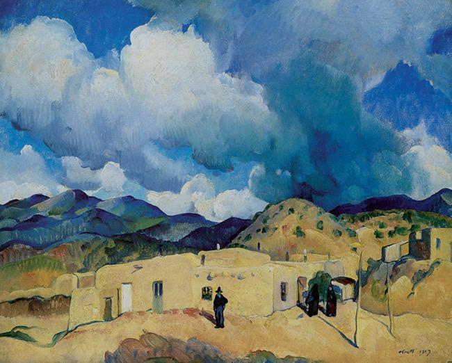 Leon Kroll -- Santa Fe Hills, 1917.  http://www.doverpublications.com/