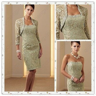 Special order ebay Free Jacket Lace Beads Cocktail Bridesmaid Gown Sexy Mother of The Bride Dresses | eBay