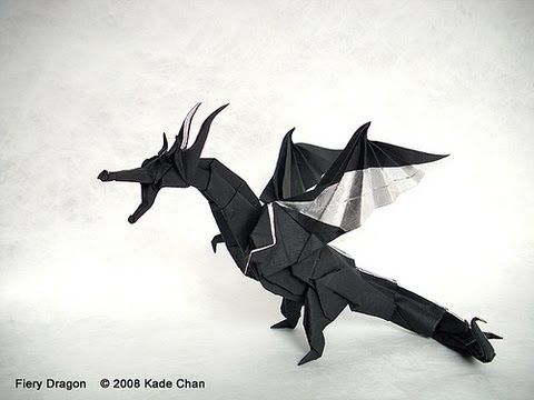Origami Fiery Dragon (Official video tutorial by Kade Chan) 摺紙 噴火飛龍 官方教學短片 - YouTube
