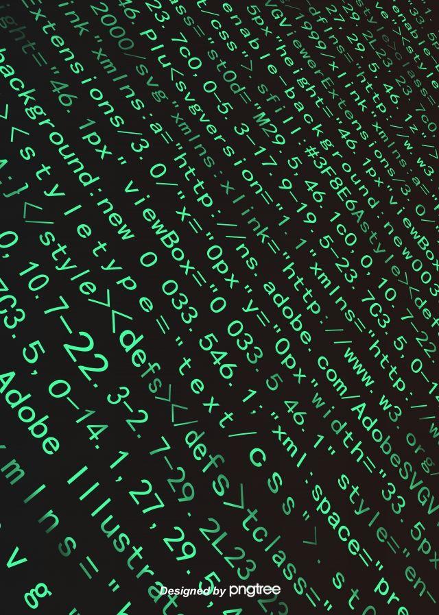 Programming Code Blue Green Character Dark Background