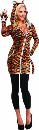 Rubie's Costume Halloween Sensations Urban Tiger Costume, Gold, Standard   - Click image twice for more info - See a larger selection  of women's animal costume at http://costumeriver.com/product-category/womens-animal-costumes/ -  holiday costume , event costume , halloween costume, cosplay costume, classic costumes, scary costume,animal costumes, classic costumes, clothing