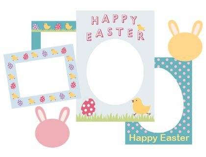 free printable scrapbook frames easter,Free Egg Crafts for Teens ,Cool Easter Eg…   – Easter