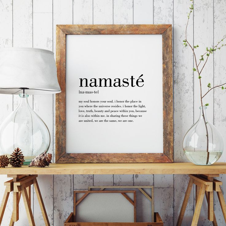 Namasté Definition Print | Minimal Print | Wall Decor | Namasté Print | Modern Print | Namasté Art | Type Poster | INSTANT DOWNLOAD by paperieshop on Etsy https://www.etsy.com/listing/493104902/namaste-definition-print-o-minimal-print