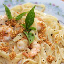Receta de Linguini con Camarones, Limon y Ajo