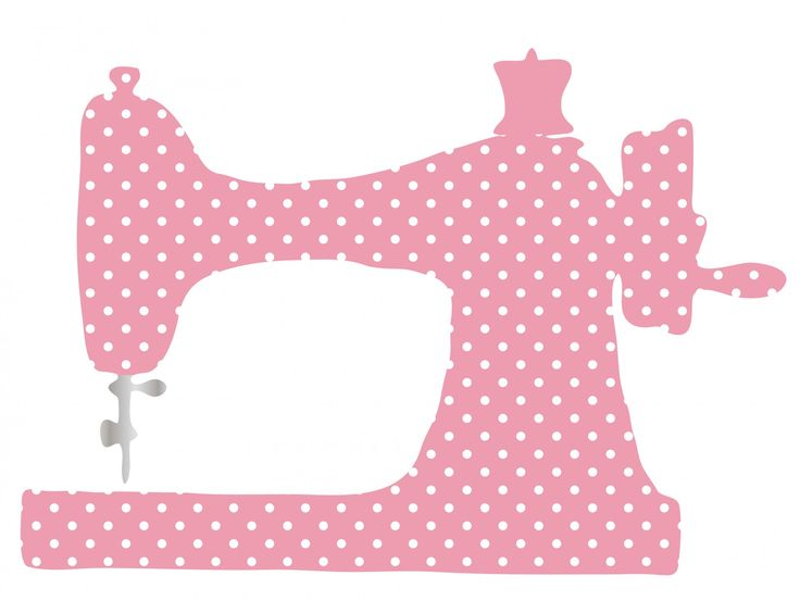 Sewing machine clipart for the craft room