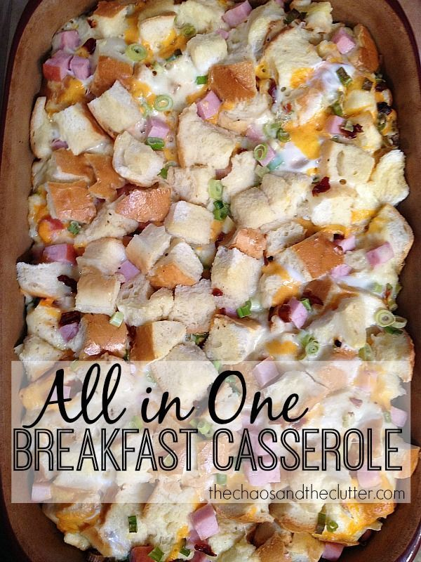 All in One Make Ahead Breakfast Casserole - perfect for Christmas morning!