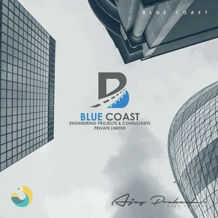 Blue Coast Engineering Projects & Consultants Pvt Ltd is a civil engg / construction company in India.  #identitidesigns #logo #blue #building #roadtrip #bridge #runway