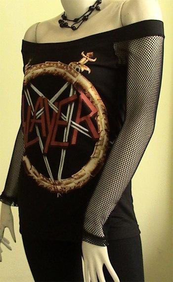 SLAYER Logo Metal DIY Women Top Shirt size S / M / L by obskura, $39.99