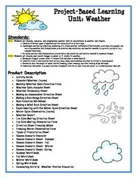 Weather Project Based Learning