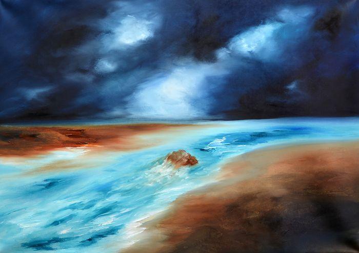 Abstract Sea Painting-River III by Niki Katiki