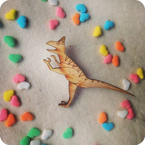 T-Rex/Raptor Brooch | One Happy Leaf | Nell and Oll