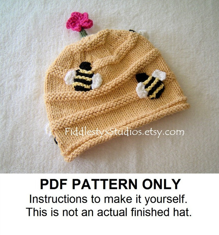 de9f625e871 ... discount knit hat knitting pattern beehive hat pattern knitted hat  pattern the buzz hat newborn baby