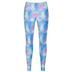 Tikiboo Mermaid Leggings £35.99 #Activewear #Gymwear #FitnessLeggings #Leggings #Tikiboo #Running #Yoga