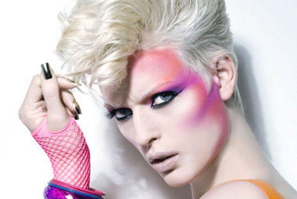 Maquillaje años 80 moda