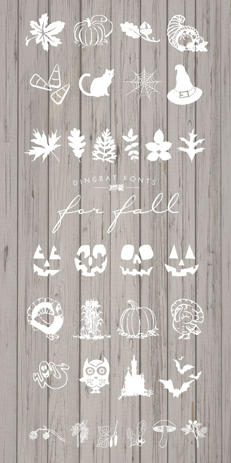 Dingbat Fonts for Fall
