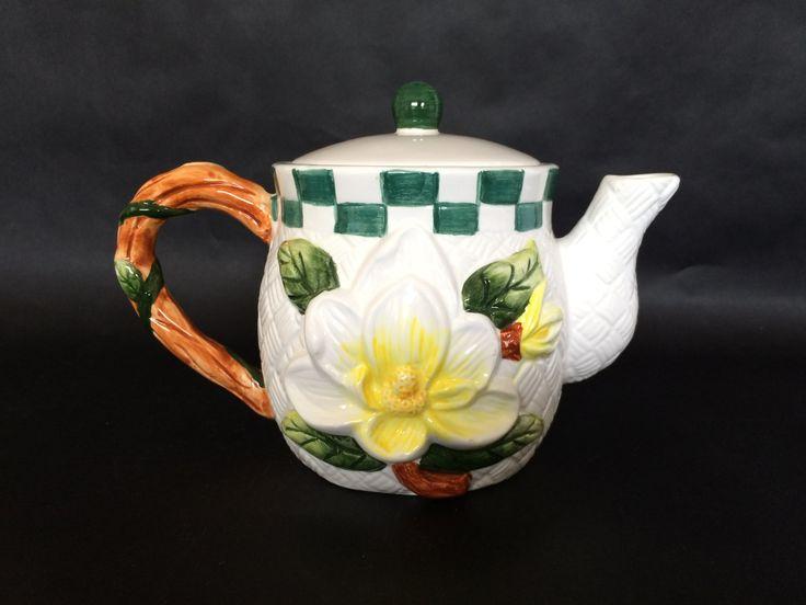 14 best easter 2017 vintage easter gifts vintage easter vintage tea pot whimsical tea pot flower tea pot pottery tea pot negle Gallery