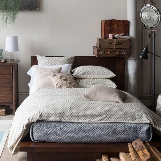 west elm bedroom firmly grounded the cadman platform bed lightly elevates 13805
