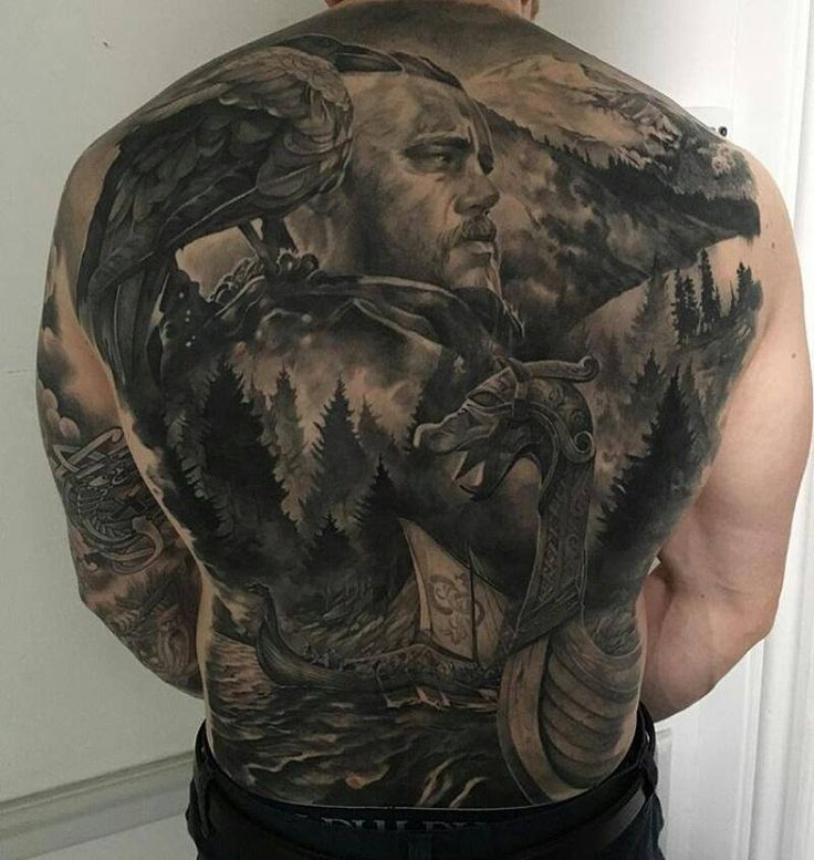 Vikings Landschaft auf dem Rücken