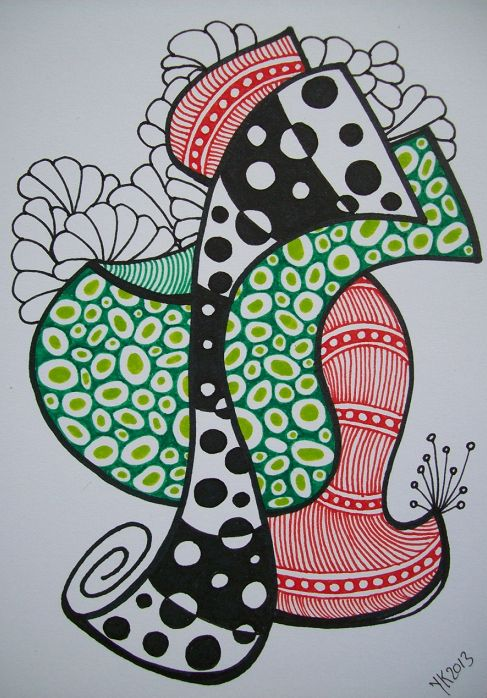 Freestyle Color Zentangle (363) by Yvonne