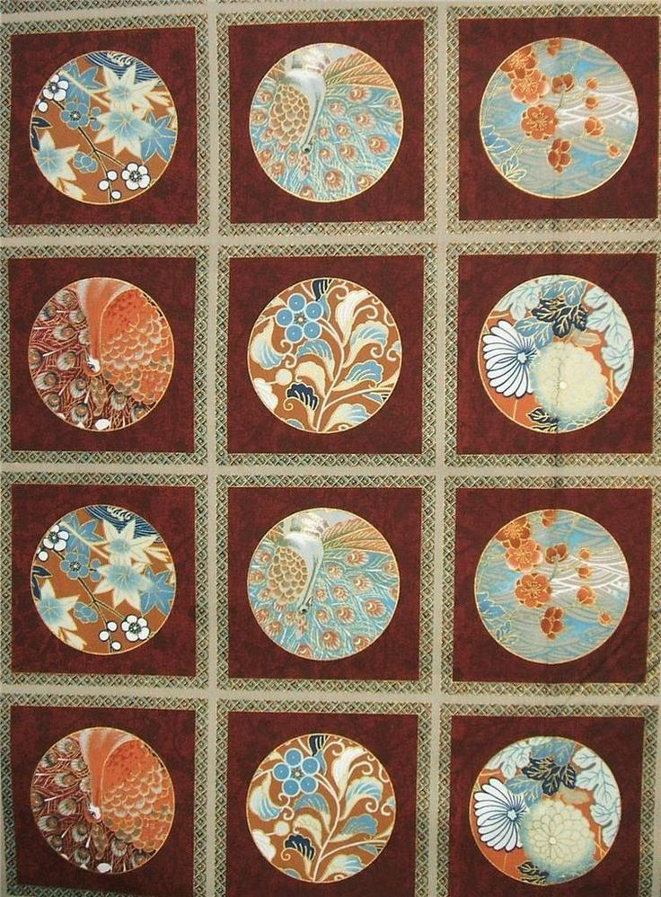 There Asian quilting fabric panels apologise