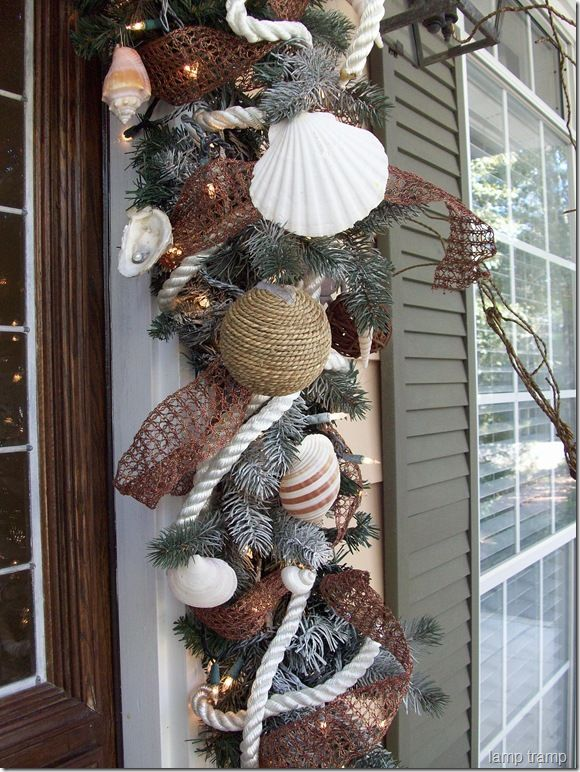 Best images about beach christmas wreaths and garlands