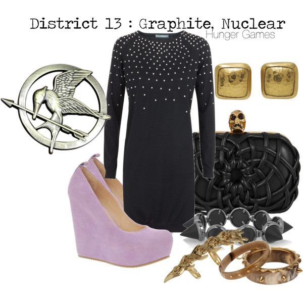 THE HUNGER GAMES District 13 : Graphite, Nuclear, created by captainku on Polyvore LOVE