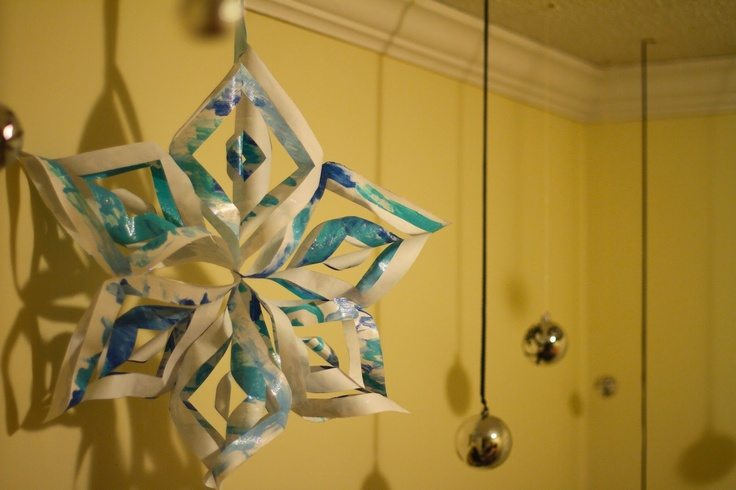 Simple 3D Paper Snowflake and other Paper Gift Wrap ideas!