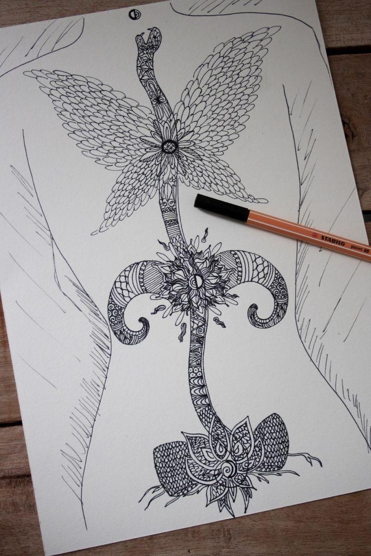 17 beste ideer om Kundalini Tattoo på Pinterest   Hellig geometri ...