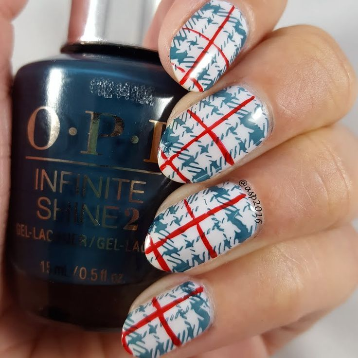 Preen.Me VIP Anya gives her nails a groovy revamp with plaid patterns designed using her gifted OPI #InfiniteShine 2 Icons Nail Lacquer in CIA=Color is Awesome. Bag this arresting shade by clicking through.