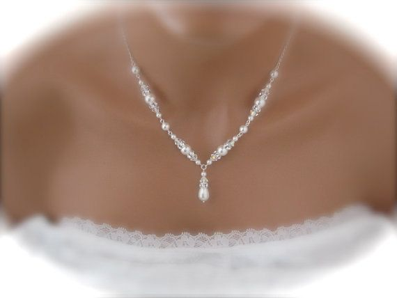 ensemble de bijoux de mariage collier de par Clairesparklesbridal