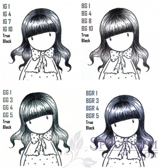 Found this on Spectrum Noirs Website and thought it would provide a great reference for the Black tone hair! :)