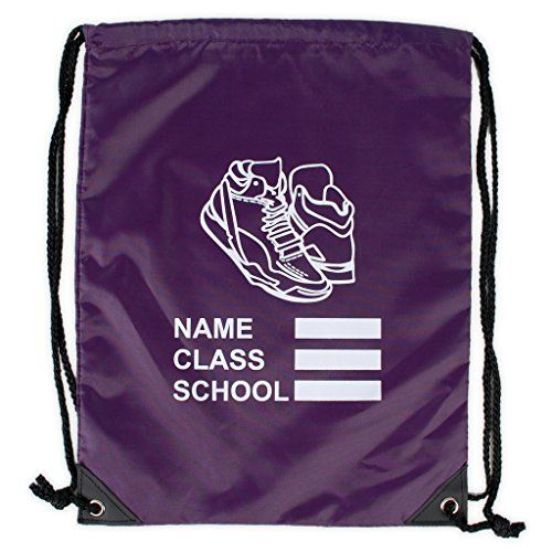 From 2.99 Kids Unisex Backpack Waterproof Drawstring Sports Gym Bag With Shoe Print Logo Best School Kids Pe Bag Available Range Of Colours
