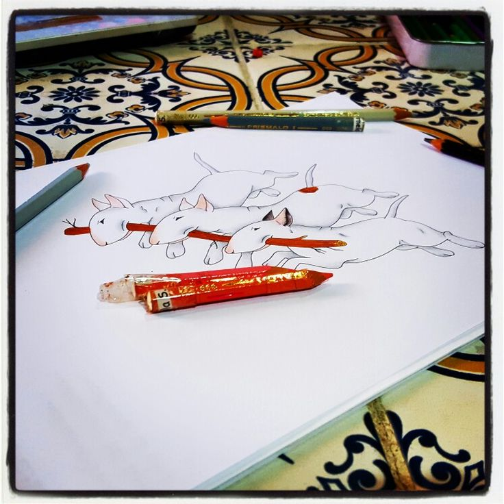 WORK IN PROGRESS: BULL CON LEGNETTO - Pastelli & Rapifograph  By Pamy  #Art #Iloveart #Instaart #FePam #GraphicArt #FePamGraphicArt