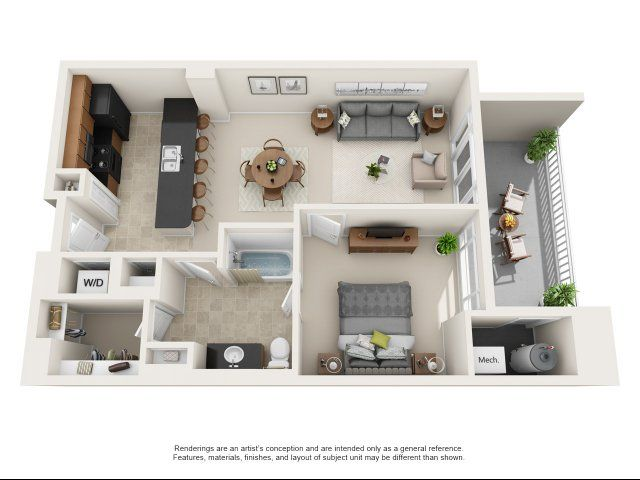 A4 Is A 1 Bedroom Apartment Layout Option At The Encore On 7th Apartments This 993 00 Sqft Floor Plan Sta In 2020 1 Bedroom House Apartment Floor Plan Apartment Design