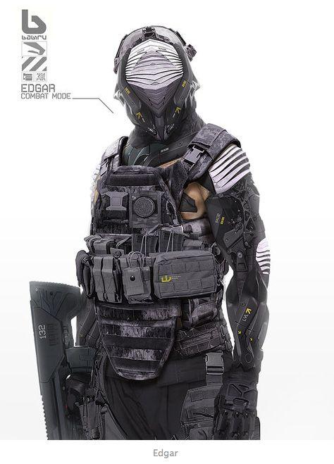 Futuristic combat armor