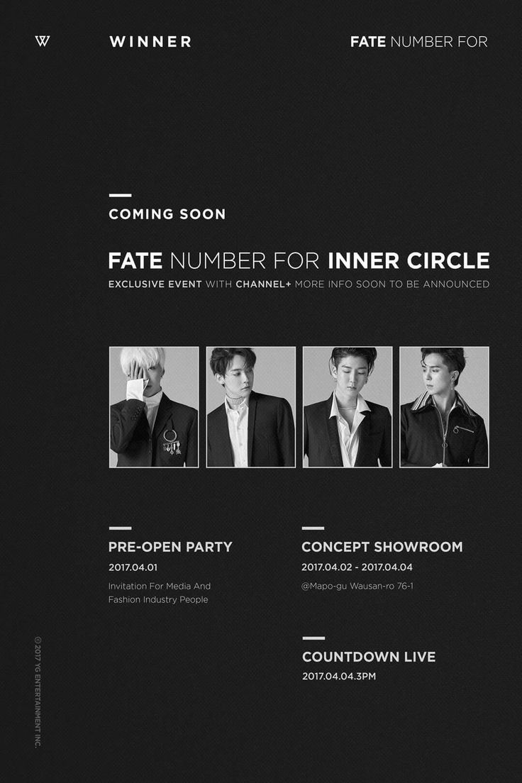 [WINNER - 'FATE NUMBER FOR' INNER CIRCLE]  originally posted by yg-life.com  #WINNER #위너 #PLAN #fatenumberfor #EXCLUSIVE #FOR #INNERCIRCLE #온리박인서 #COMEBACK #0404 #4PM #444 #YG
