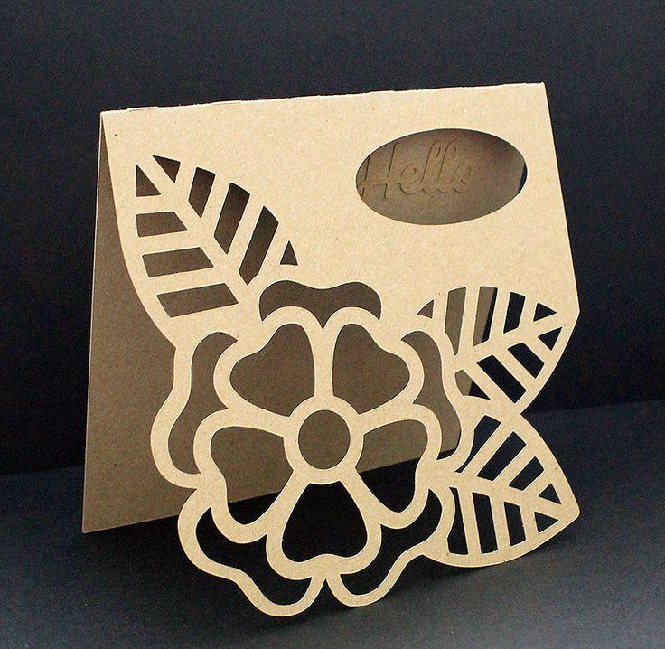 Large Flower Card - 3 ways! - Free Cut File  