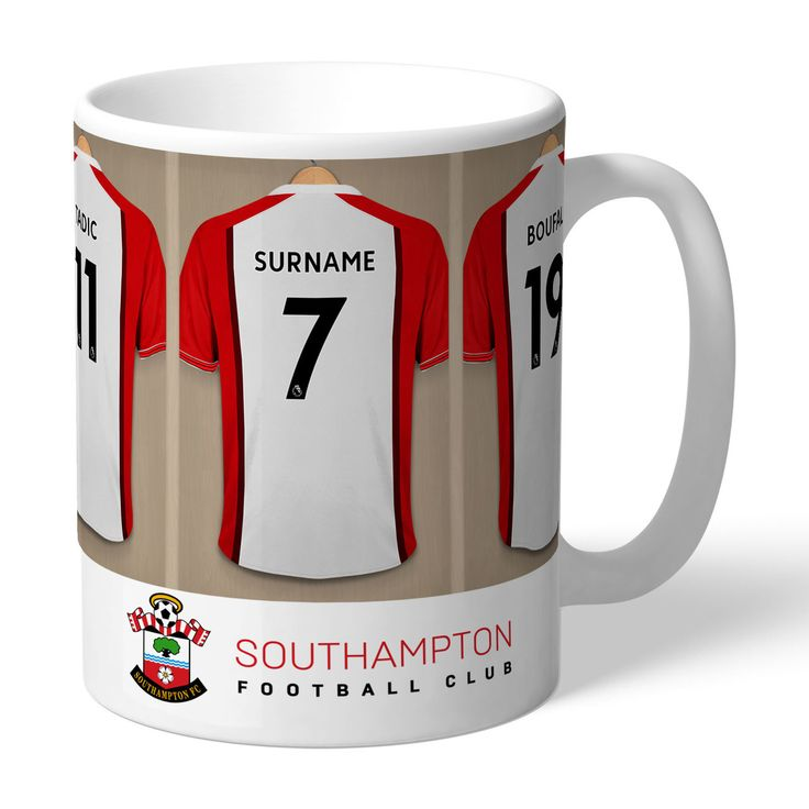 One of our best-selling Southampton FC gifts of all time, this personalised dressing room mug is the ultimate must-have for any Southampton FC fan. Fully licensed and approved by Southampton FC themselves, you can be assured of quality and authenticity. Our unique design allows your selected name (max 12 characters) to be merged onto the centre dressing room shirt, exactly matching those of the other Southampton FC players. Choose the number to go on the shirt; perfect for birthdays and…