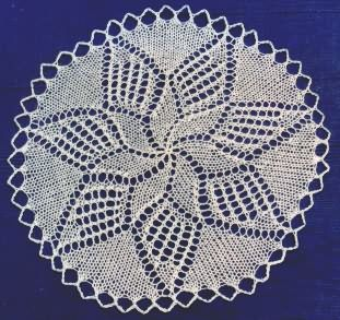 DOILY WITH STAR: 1) http://www.yarnover.net/patterns/doilies/donner/ullstein1.html 2) http://www.yarnover.net/images/doilystar.gif