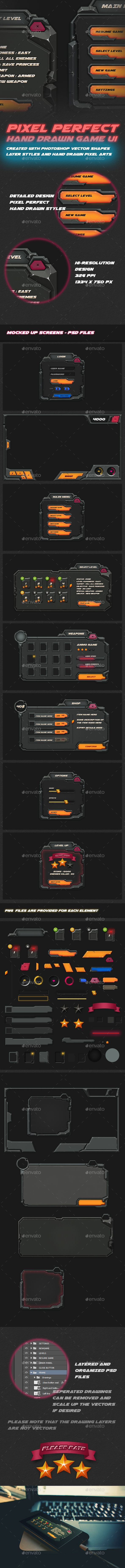 Realistic Game UI PSD