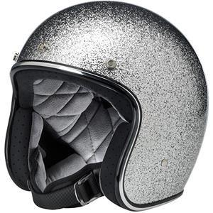 Biltwell - Bonanza MegaFlake Helmet - Brite Silver