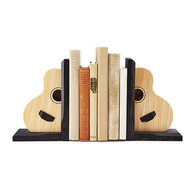 Acoustic Guitar Bookends Music Gifts Gifts For Book Lovers Uncommongoods Music Gifts Book Lovers Gifts Bookends