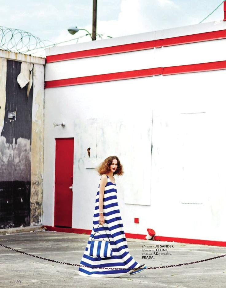 bold stripes... Jil Sander.