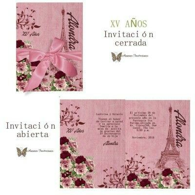 #xvaños #paris #anamarinvitaciones#invitaciones