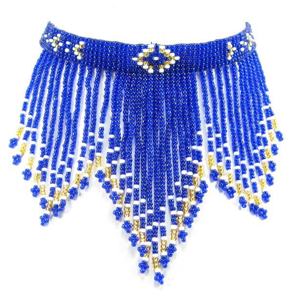 "Eagle Spirit Native American Store - ""Royal Beaded Fringe Choker"""