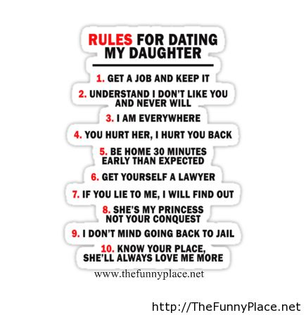 Everyone Should Learn From This Dads Rules For Dating His Daughters