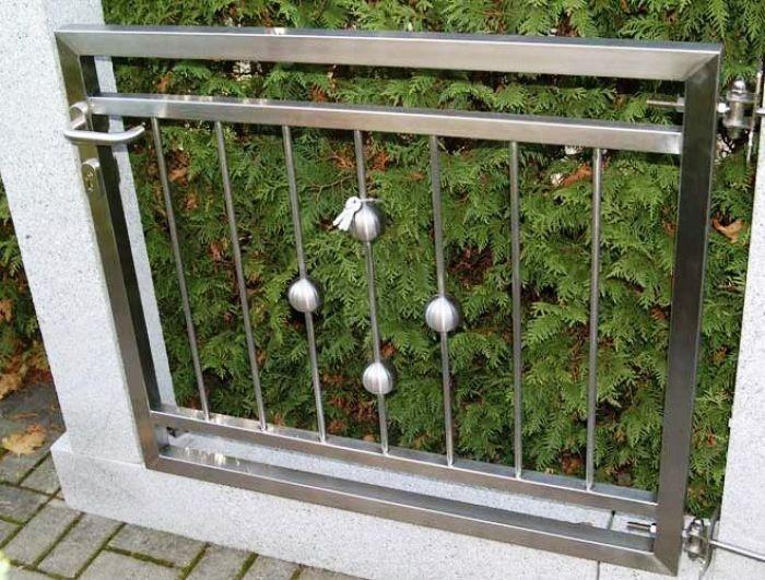 Nerezové brány a ploty