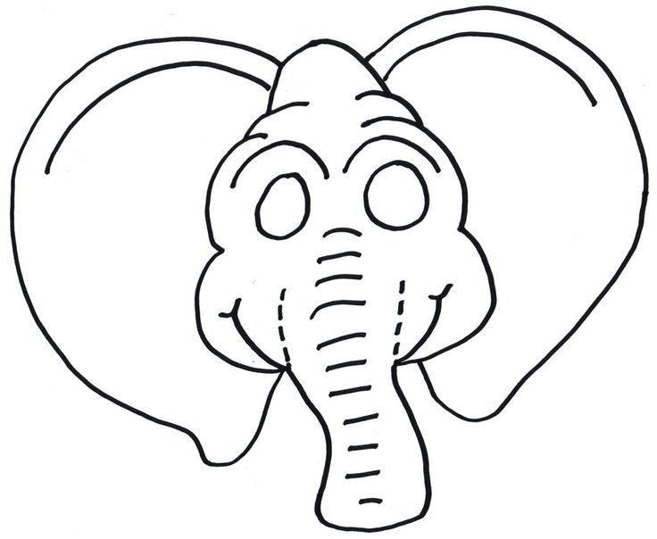 elephant mask big elephant pattern crafthubs karnevalove masky omazing ...